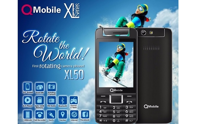 QMobile introduces First Rotating Camera Phone XL50 at an affordable price of Rs.3250