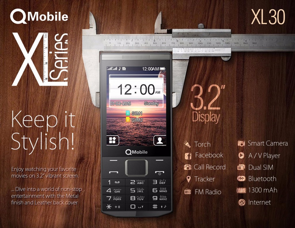 QMobile Presenting XL; New Amazing Feature Phone Series