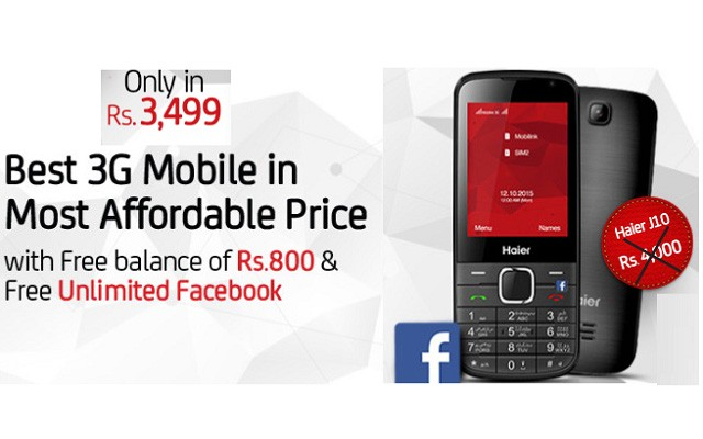 Mobilink Relaunches Haier Klassic J10 Smartphone with Same Promotional Offer