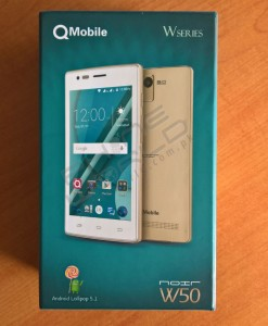 QMobile Noir W50 Unboxing and box