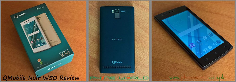 QMobile Noir W50 specifications unboxing