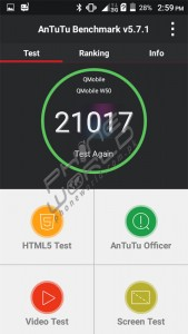 QMobile Noir W50 Antutu test results