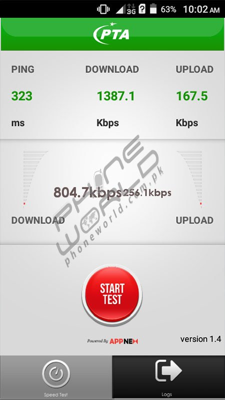 QMobile Noir W50 PTA SpeedTest