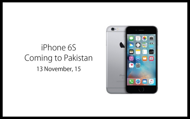 Apple iPhone 6s & 6s Plus coming to Pakistan on 13th November 2015