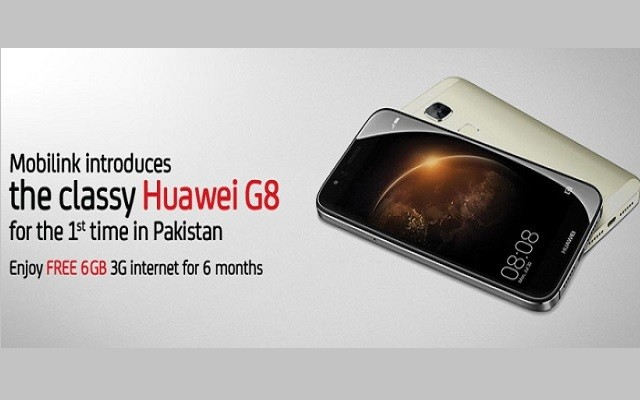 Mobilink Brings Free 3G Inernet on Purchase of Huawei G8