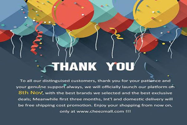 Cheezmall has Finally Given the Date of its Launch
