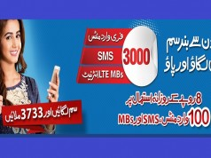Now Enjoy 3000 Free Minutes, SMS & MBs with Warid SIM Lagao Offer