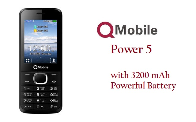 QMobile Introduces Two Elegant Bar Phones Power 5 & 900 with Marathon Battery