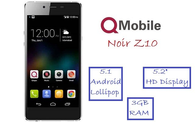 QMobile Launches an Incredible Smartphone Noir Z10