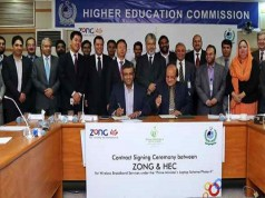 Zong Signs Agreemnet with HEC to Provide Internet on 100k Laptops