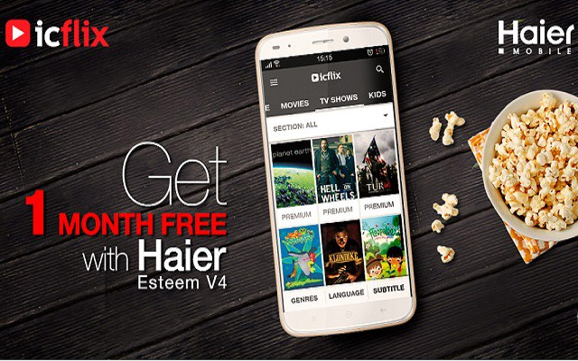 ICFLIX Preinstalled on All High End Smartphones of Haier Mobile for Pakistan