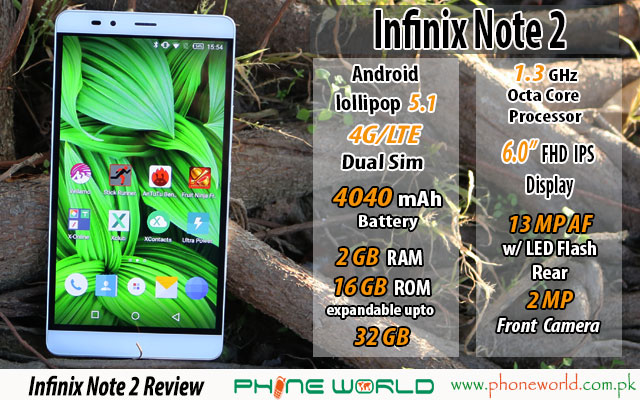 Infinix Note 2 LTE Review