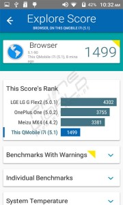 QMobile Noir i7i browser test