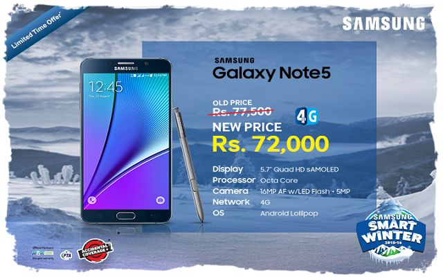 Limited Time Offer: Samsung Galaxy Note5 Available at Rs.72000