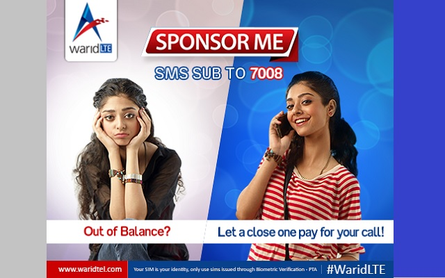 Get Your Calls Sponsored by Others with Warid Sponsor me Offer