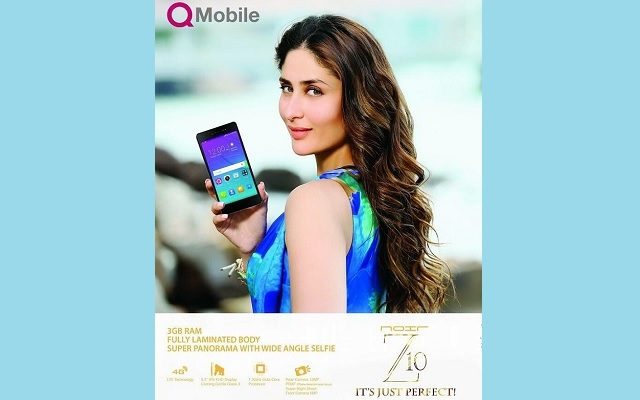 QMobile Again Hires Kareena Kapoor for the Advertisement of Noir Z10