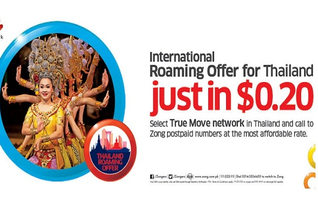 Zong Brings Thailand Roaming Offer for Postpaid Customers