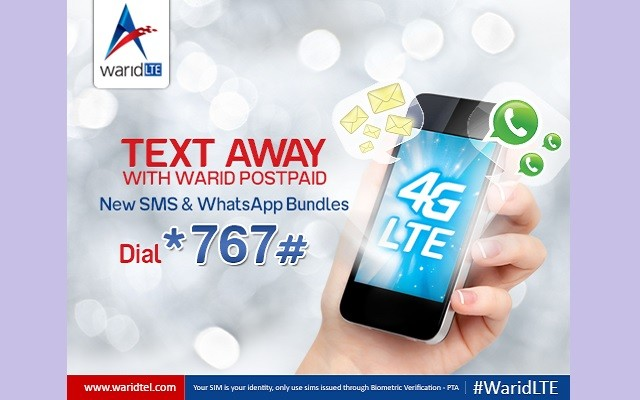 Warid Brings SMS and WhatsApp Bundles for Postpaid Customers