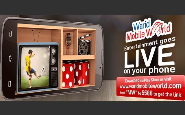 Warid Mobile World App Makes You enjoy live TV Channels