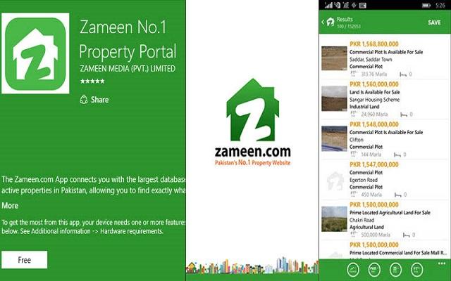 Zameen Launches its Windows App for Phones and Desktops
