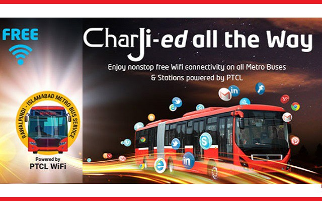 PTCL Presents its CharJi Metro Bus Infograph: Passengers Used High Amount of Data