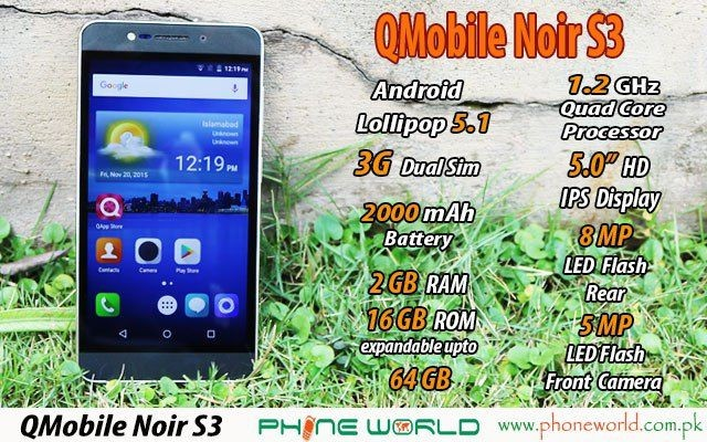 QMobile Launches Noir S3 at an Affordable Price of Rs. 12500