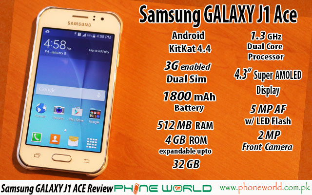 Samsung Galaxy J1 Ace Review Phoneworld