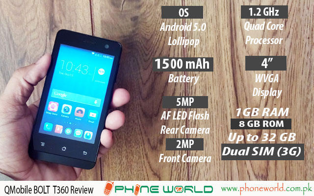 QMobile bolt t360 review
