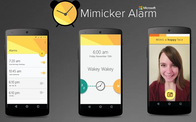 Microsoft Launches Mimicker Alarm App to Play Games and Take Selfies