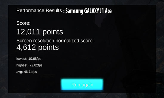 samsung galaxy j1 ace GPU