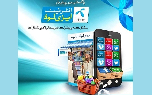 Telenor Brings First Time in Pakistan Internet Easyload Service