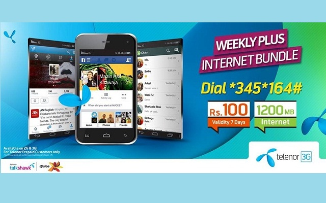 Telenor Brings Weekly Plus Internet Bundle with Just Rs 100