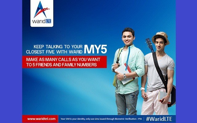 Now Make Unlimited Calls any Time With Warid My5 Service