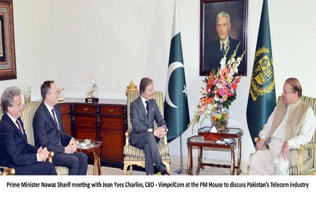 VimpelCom CEO meets with PM Nawaz Sharif to Discuss Telecom Sector