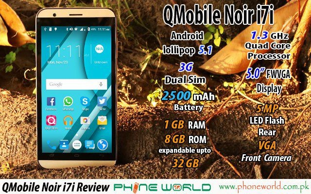 QMobile Presents Noir i7i at an Amazing Price of Rs 8650