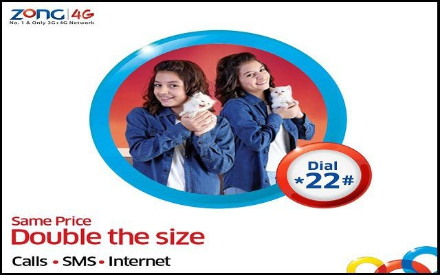 Zong Steps up to 'Double Everything' for its Prepaid Subscribers