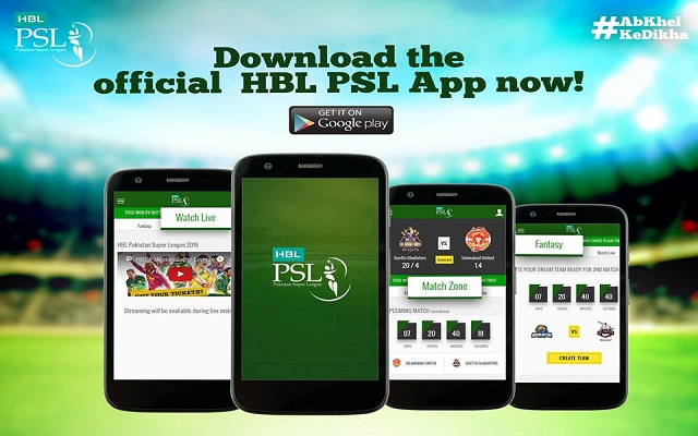 Now Watch Live Streaming of Pakistan Super League on PSL App