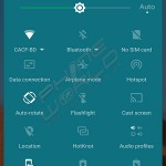 infinix zero 3 quick settings interface