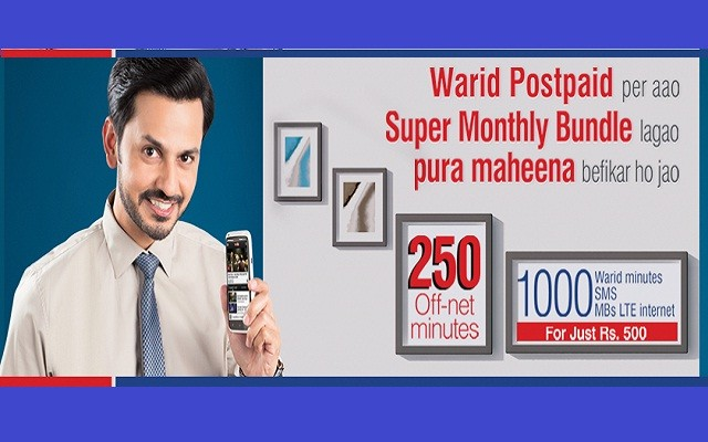 Warid Introduces Super Monthly Bundle for New Postpaid Customers