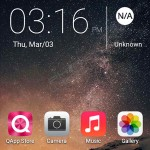 QMobile Noir i1 home screen interface