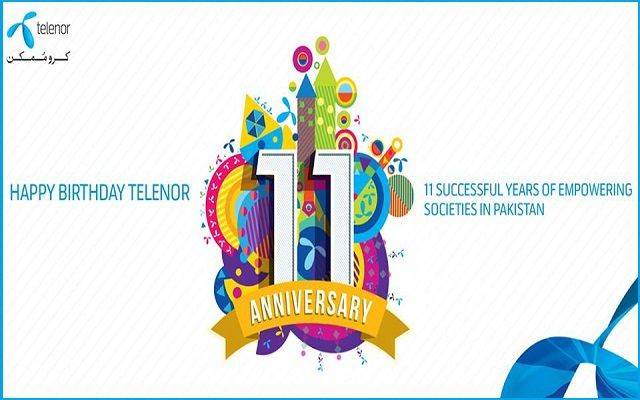 Telenor Pakistan Celebrating its 11th Anniversary