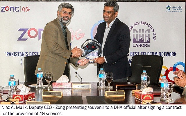 DHA to Get Digitized with Zong 4G Services