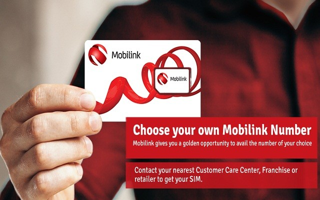 Choose the Number of Your Own Choice through Mobilink