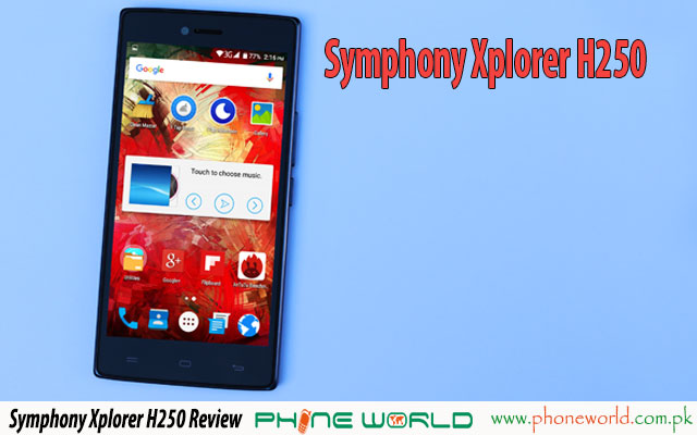 symphony xplorer h250 review price specifications