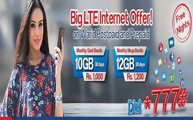 Warid Brings Super LTE Bundles for Prepaid and Postpaid Customers