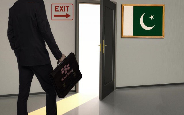BlackBerry Re-announces its Exit from Pakistan Due to Government's Monitoring Data Demand