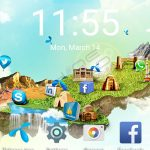 Telenor smart zoom home screen interface