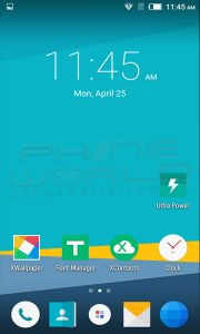 infinix hot 3 android homescreen interface