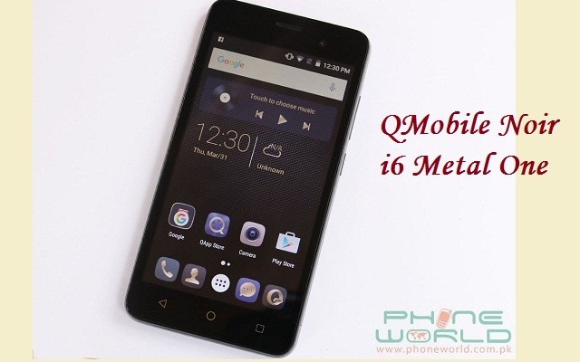 QMobile Presents Noir i6 Metal One with Metallic Body Available in Rs 8500