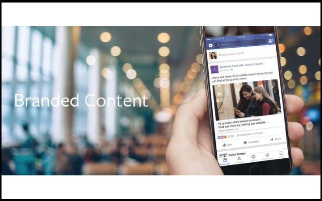 Facebook All Set to Support Prevalence of Branded Content